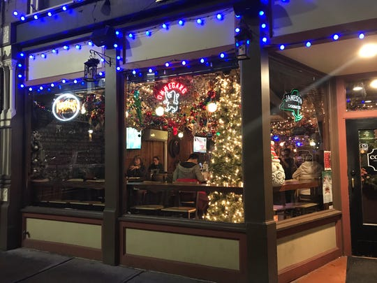The Colonial in downtown Binghamton features indoor and outdoor decorations.