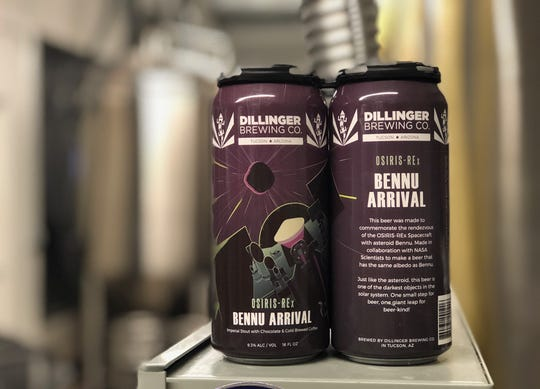 Dillinger Brewing Company came out with their new beer, Bennu Arrival, in honor of NASA's OSIRIS-REx mission arriving at the asteroid, Bennu on Dec. 3 2018.