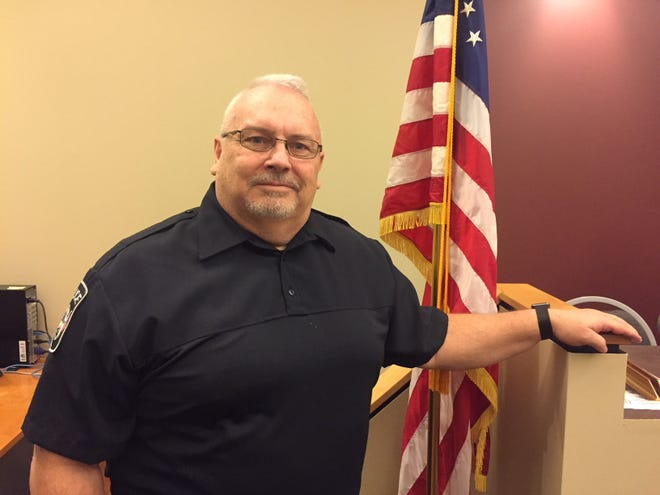 Jeff Shook was hired as Crestline's full-time police chief.