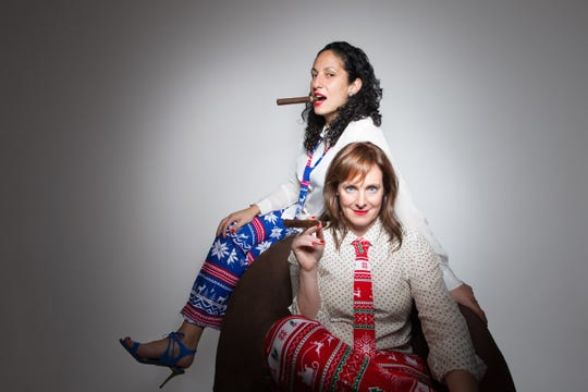 """""""The El-Salomons' Non-Denominational Holiday Comedy Extravaganza!"""" takes place Dec. 21-22 at the Vermont Comedy Club."""