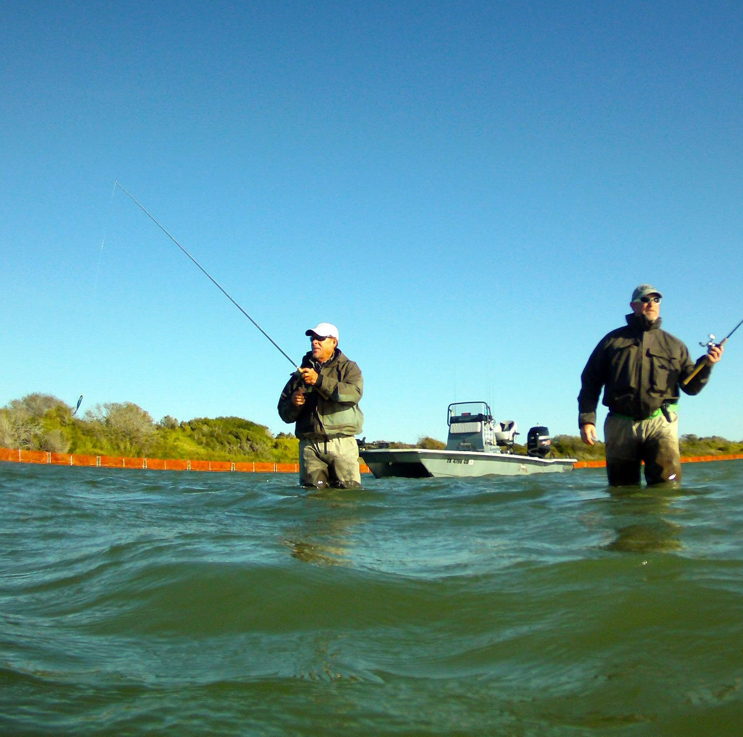 It is hardly ever too cold to go wade fishing in South Texas bays