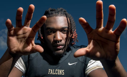 Burlington Township senior Omar Rogers is the Courier Post Defensive Football Player of the Year for 2018.