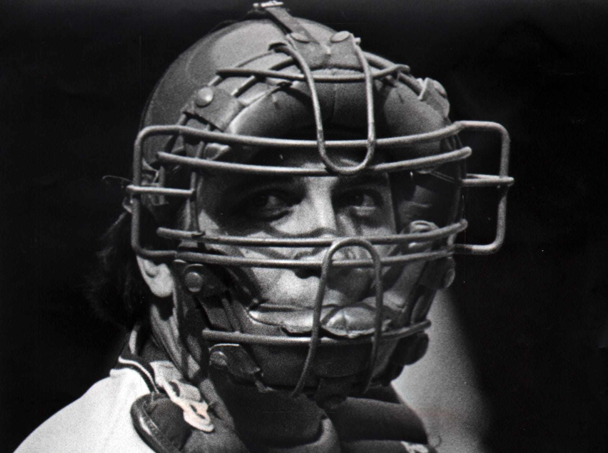 OCTOBER 5, 1980: Johnny Bench, Cincinnati Reds Johnny Bench wore the catcher's mask for the Reds on October 5, 1980, when they defeated the Atlanta Braves, 1-0. Will he ever wear it again? Bench has called a press conference for today, 11/18/80, presumably to discuss whether his unifrom will come off its hanger in 1981. The Enquirer/Michael E. Keating scanned February 16, 2010