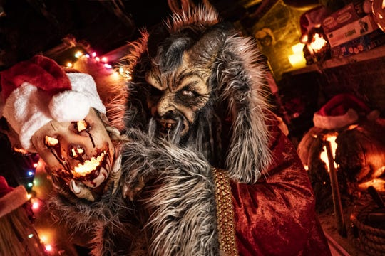 """The Krumpus, a traditional """"Bad Santa"""" rules at the Dent Schoolhouse Dec. 7 and 8."""