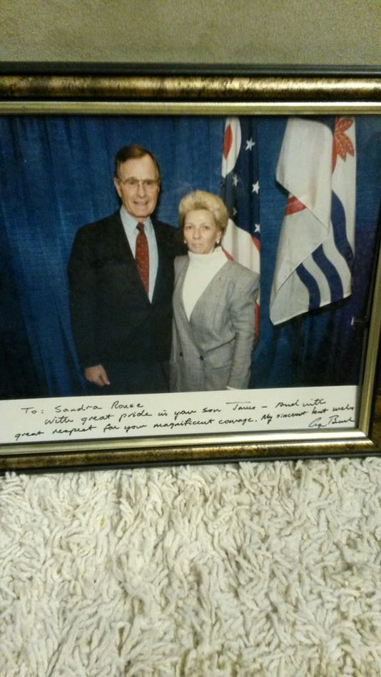 George Bush and Sandee Rouse