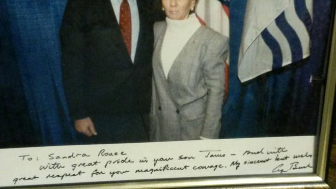 Sandee Rouse and President Bush