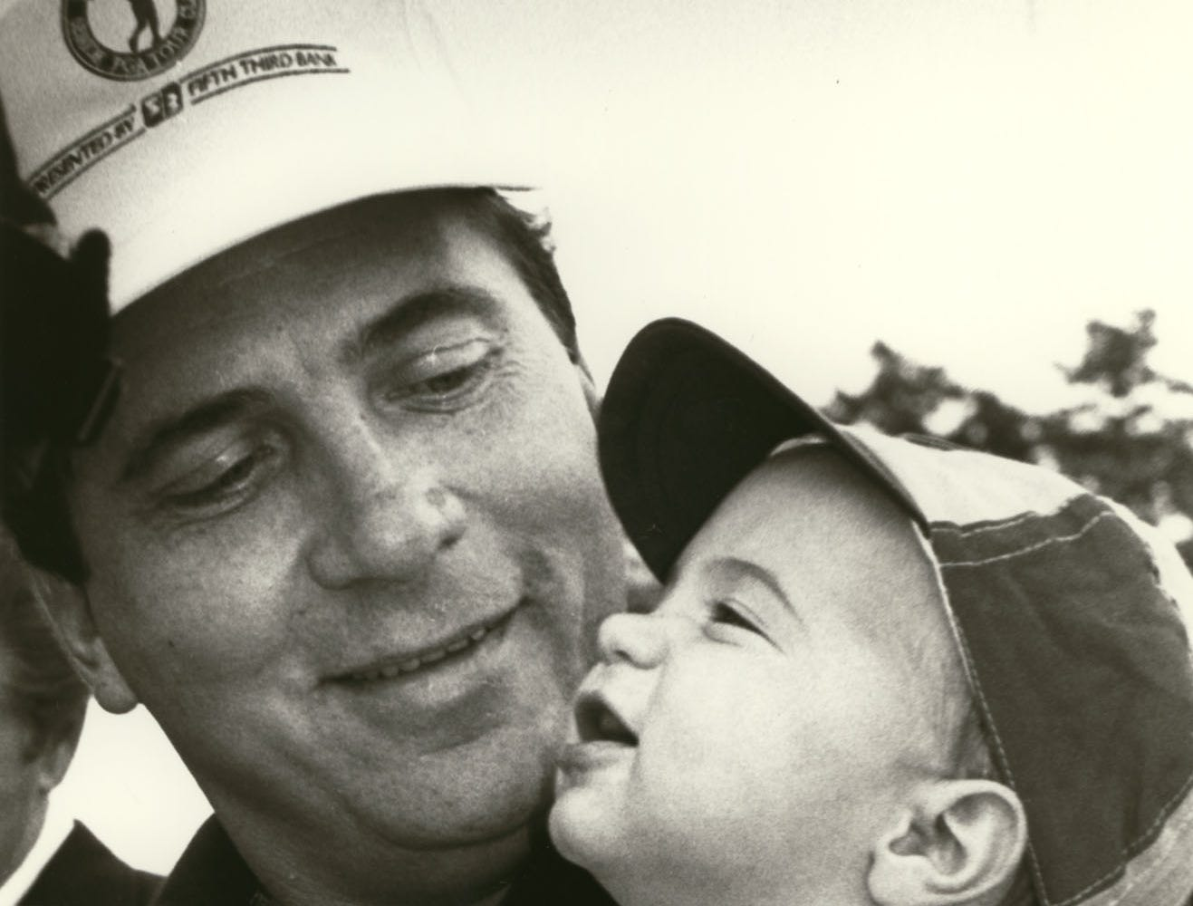 SPORTS_BENCH : undated photo of Johnny Bench with his son Bobby Bench. Scanned October 18, 2007