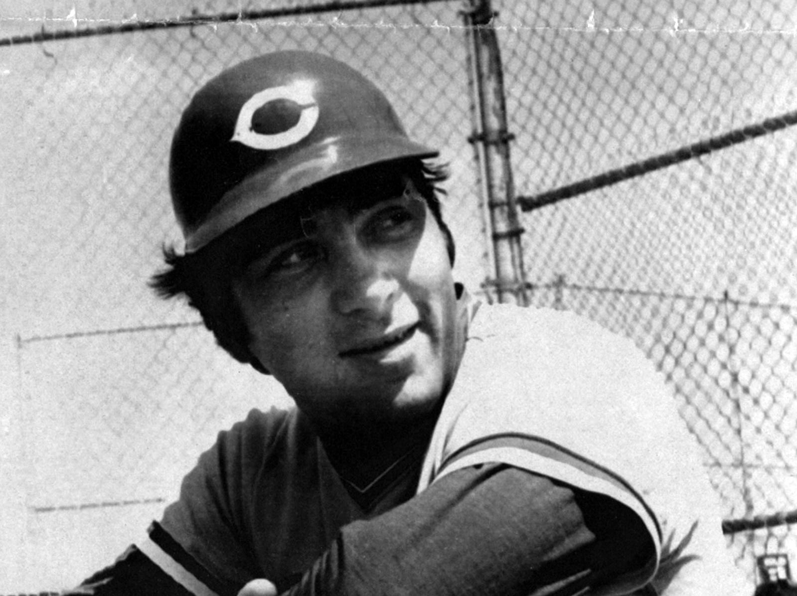 AUGUST 10, (YEAR UNKNOWN): Cincinnati Reds catcher Johnny Bench, shown in a 1976 file photo, appears to be headed for surgery again after the season ends. Bench, battered by twelve years of professional baseball, faces surgery on his right shoulder. After last season, he had to have surgery on his left shoulder. AP Photo scanned August 6, 2013