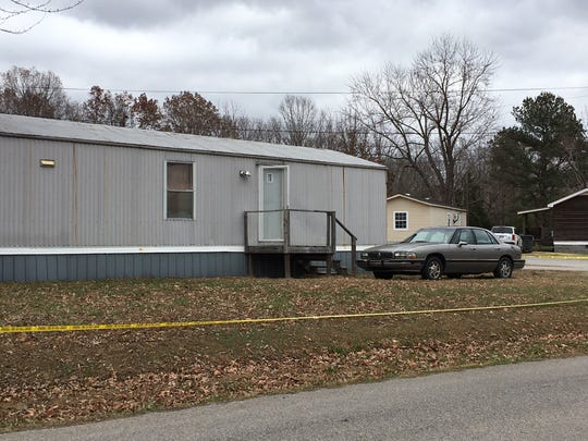 The home on Old Stewart Road in Houston County where the body of Dorris Ann Braithwaite was found Monday, Dec. 3, 2018.