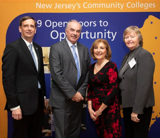 New Jersey Council of County Colleges,  President Dr. Aaron Fichtner, RVCC, President Dr. Michael McDonough, Lori Moog and NJCCC Chair Helen Albright