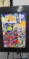 """Jonathan Campos Pinheiro, art work on """"Unity"""" received honorable mention."""