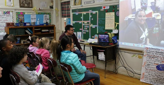 McKinley 5th graders and their teacher Joseph Paradise share questions, predictions and observations about a novel they are reading with a fifth grade class in Atlanta, Georgia, part of the Global Read Aloud whose goal it is to connect the world through reading.