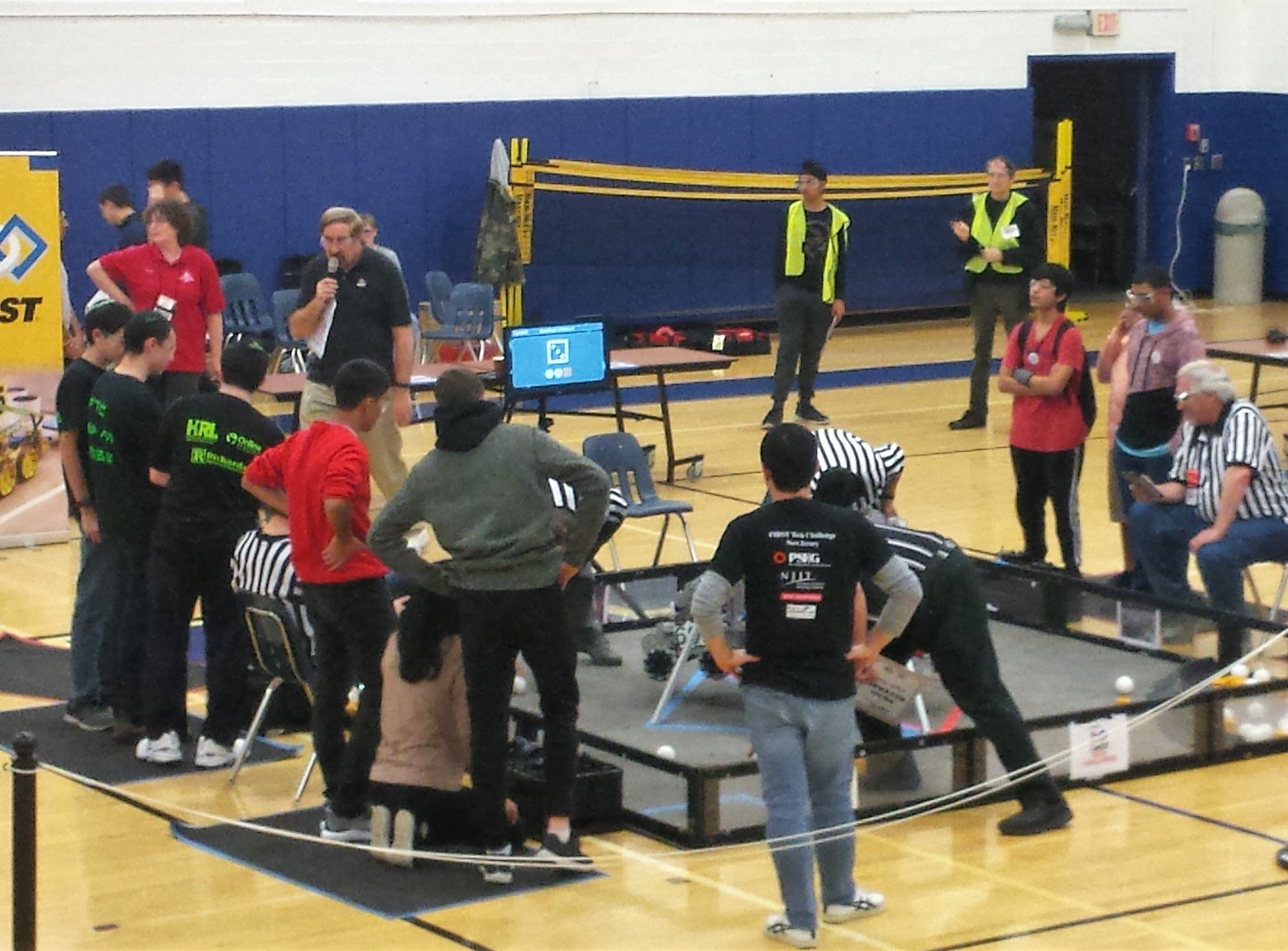 In its first tournament of the season, the Westfield Robotics Team, That Hertz, competed against 16 other New Jersey robotics teams at the FIRST Tech Challenge Robo-Ruckus on Sunday, Nov. 4 at Westfield High School.