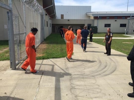 Iowa Department of Corrections/Special to the Register Inmates are shown arriving at the new Iowa State Penitentiary in Fort Madison in 2015.