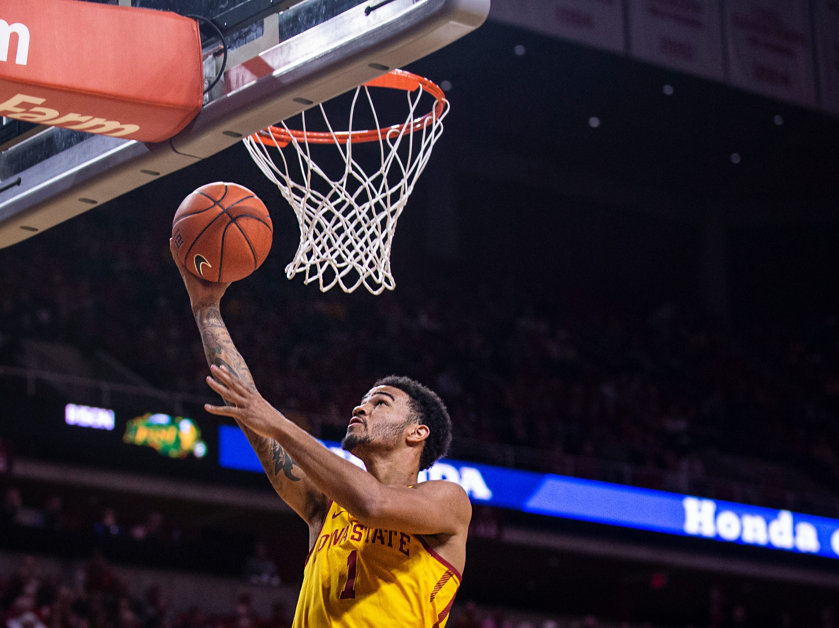 Iowa State's Nick Weiler-Babb shoots the ball during the Iowa State men's basketball game against North Dakota State University on Monday, Dec. 3, 2018, in Hilton Coliseum.