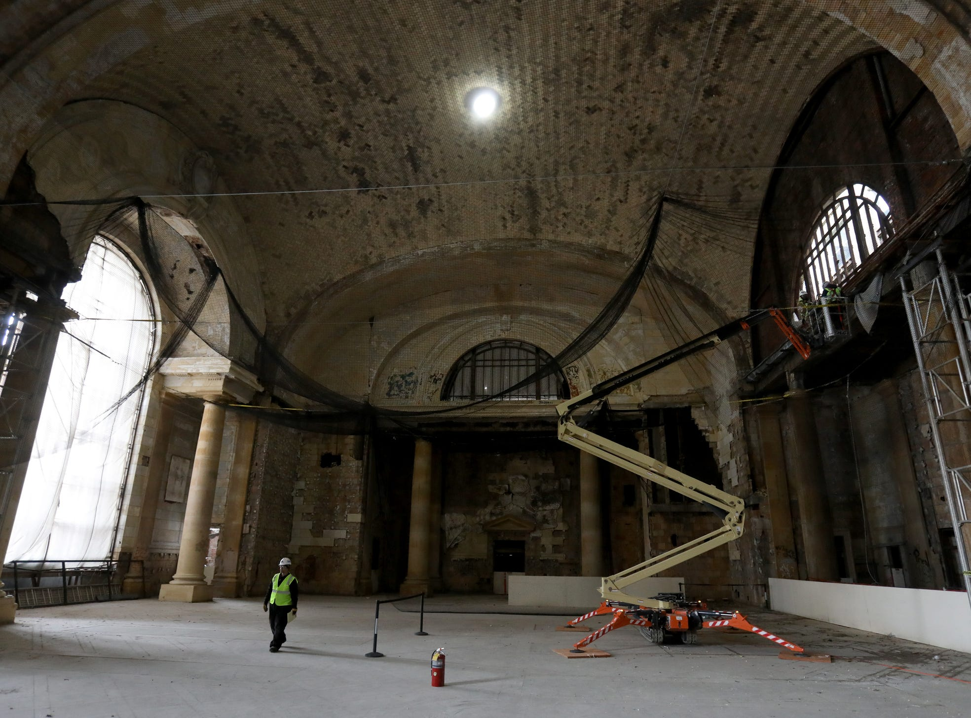 Inside of Michigan Central Station shown during a tour for the media on Tuesday, December 4, 2018.