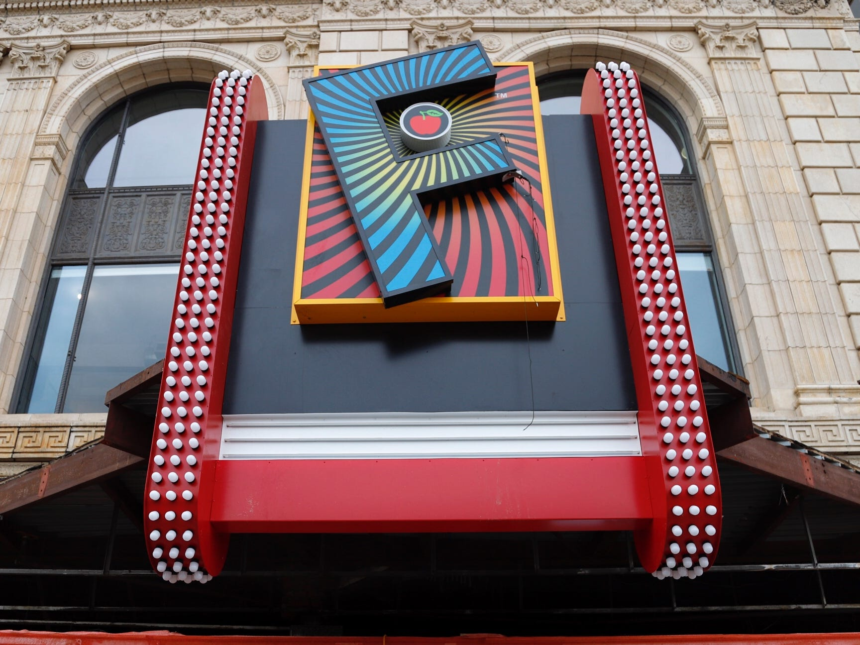 Fillmore Detroit's old marquee is gone, but new sign draws criticism