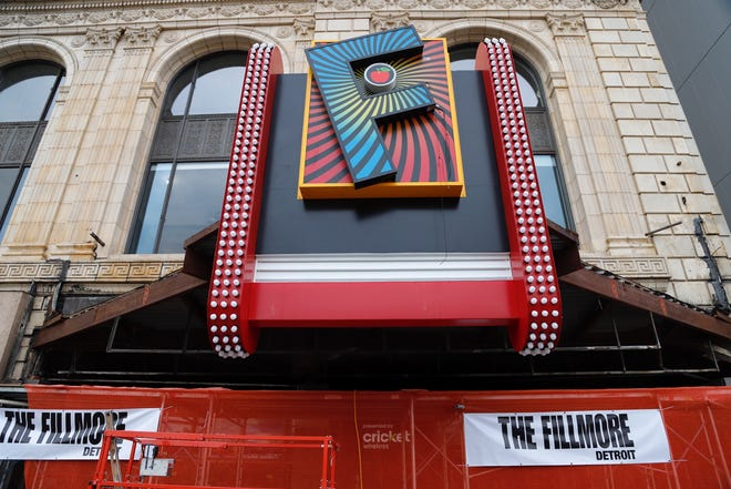 The Fillmore has updated it's classic marquee with a new giant 'F' sign, seen here on Tuesday, December 4, 2018.