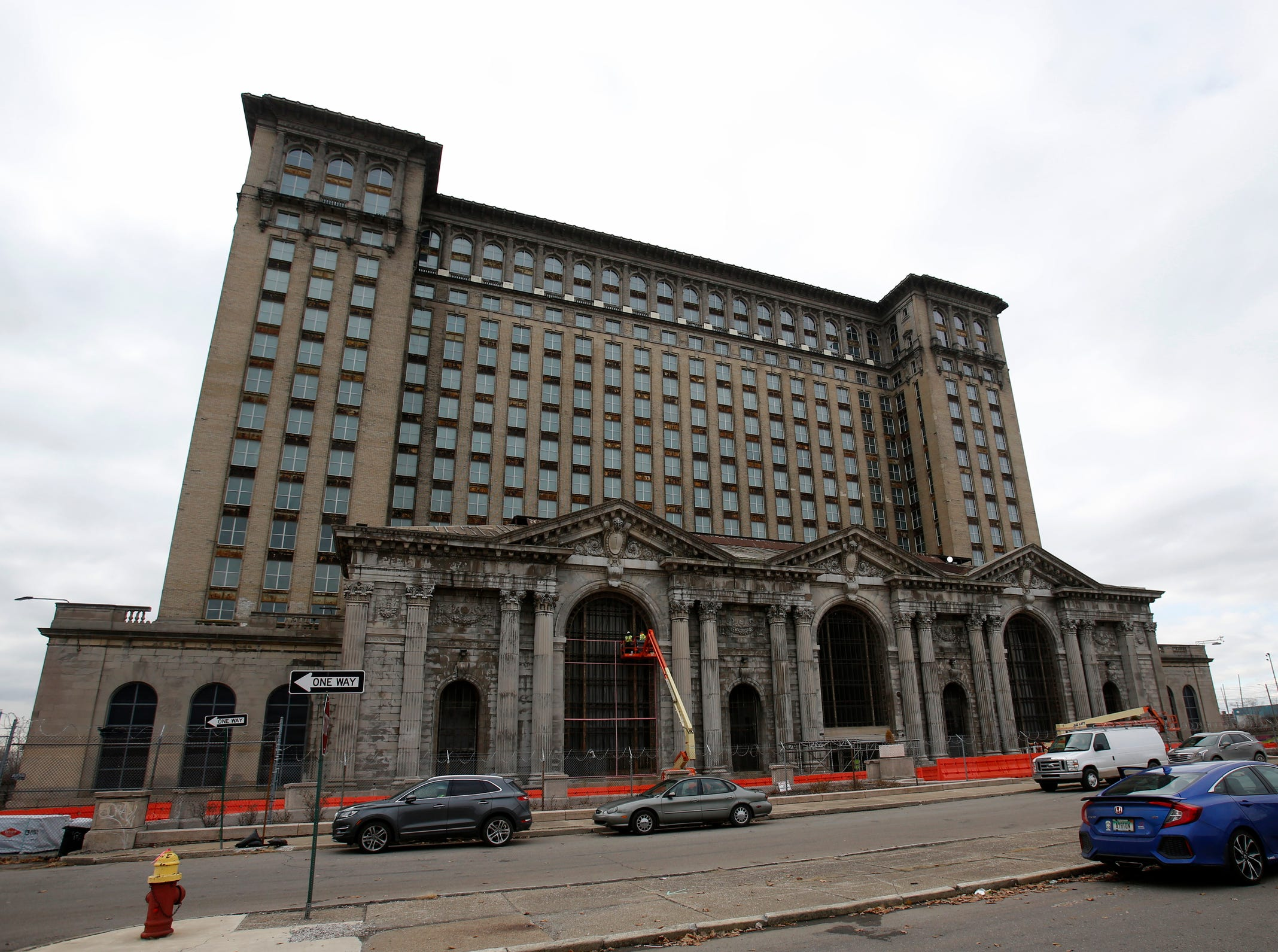 Michigan Central Station in Detroit on Tuesday, December 4, 2018.