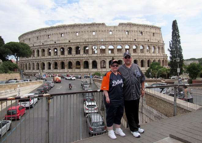 Chris and Ray Franz of Howell took the D on a family vacation to the Colosseum in Rome in June 2017. They were photographed by their daughter Barbara Franz.