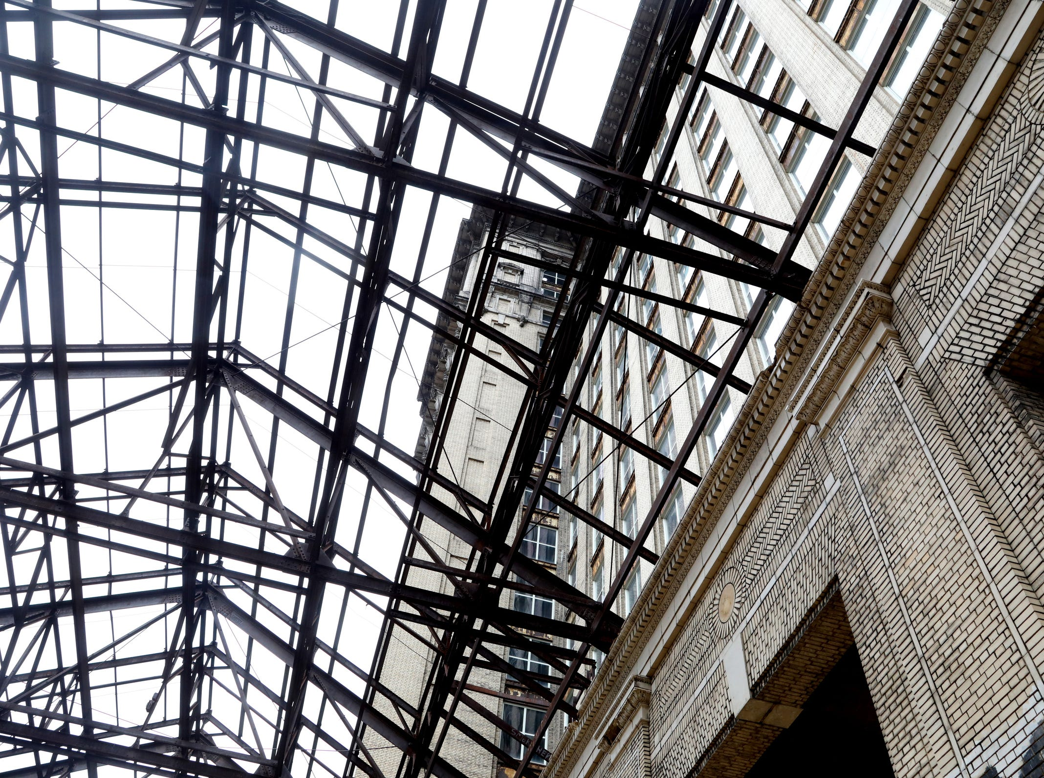 Part of the interior of Michigan Central Station in Detroit shown during a tour for the media on Tuesday, December 4, 2018.
