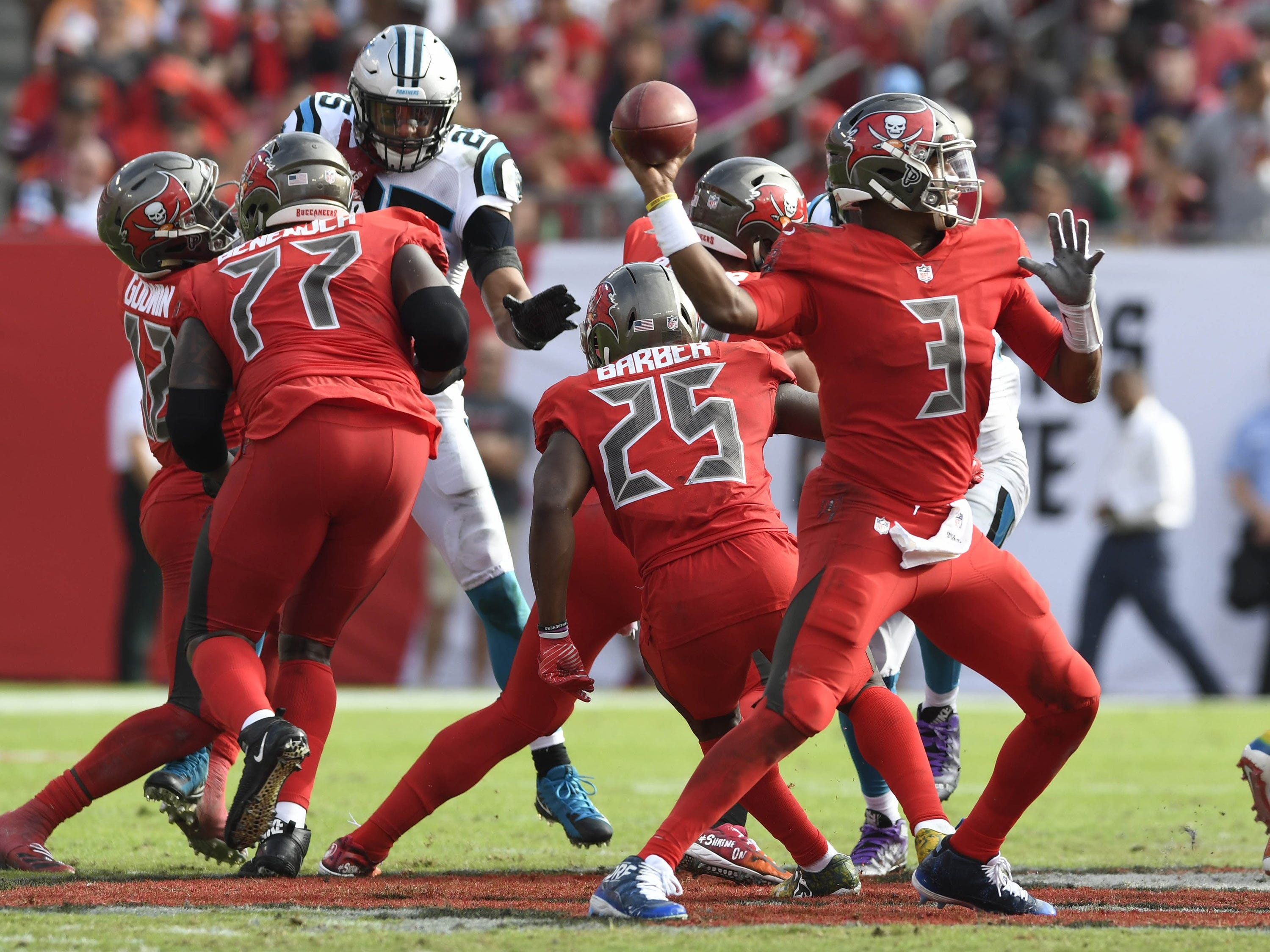 23. Buccaneers (5-7) | Last game: Defeated the Panthers, 24-17 | Previous ranking: 26 | The buzz: If Bucs fall for Jameis Winston's rope-a-dope down the stretch, they get what they deserve.