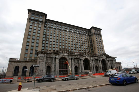 Exterior of the Michigan Central Station in Detroit on Tuesday, Dec. 4, 2018.