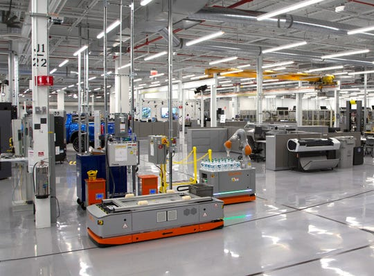 Interior of the Advanced Manufacturing Center for Ford Motor in Redford Township on Tuesday, Dec. 4, 2018.