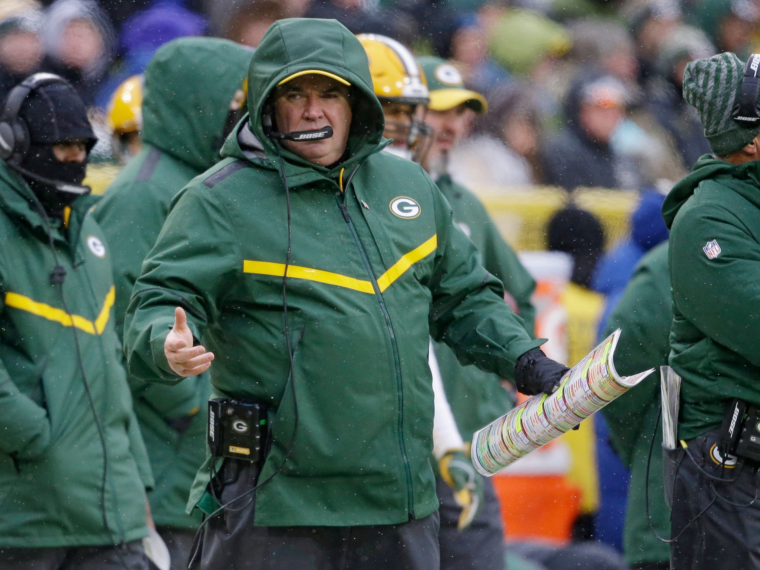 20. Packers (4-7-1) | Last game: Lost to the Cardinals, 20-17 | Previous ranking: 19 | The buzz: Packers smart to get a jump start on the hiring cycle by firing Mike McCarthy – especially if they want a college coach like Lincoln Riley.
