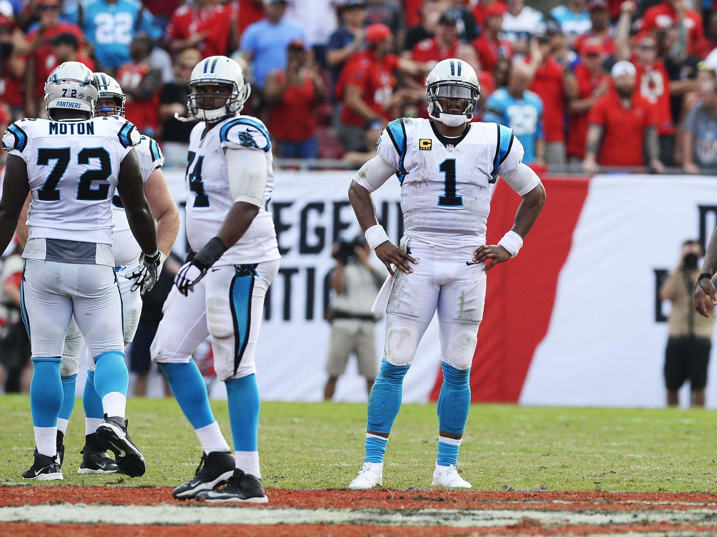 18. Panthers (6-6) | Last game: Lost to the Buccaneers, 24-17 | Previous ranking: 14 | The buzz: Ron Rivera dropped a bomb on his staff, but with two games left vs New Orleans, Carolina isn't making the playoffs.