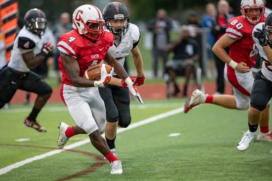 Canton running back Steven Walker averaged 231.8 yards rushing a game, picking up 2,318 yards on the ground on 183 carries, scoring 26 touchdowns. He also had two receiving touchdowns.