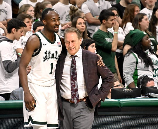 It was all smiles and kind words when Joshua Langford came out of the game and joined Tom Izzo on the sidelines during a win over Iowa.