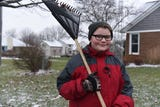 Kaleb Klakulak, 12, is doing odd jobs and collecting pop bottles to raise money for a headstone for his friend K.J. Gross, who died at age 12