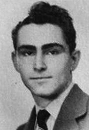 Rod Serling in his 1943 senior yearbook photo.