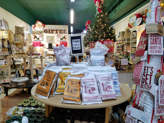 bbQ and More in Paducah carries cooking paraphernalia and a collection of Kentucky edibles such as these mixes from Weisenberger Mills.