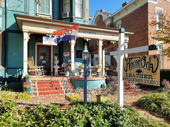 Many of the artists' studios in the Lower Town area of Paducah are in restored Victorian buildings.