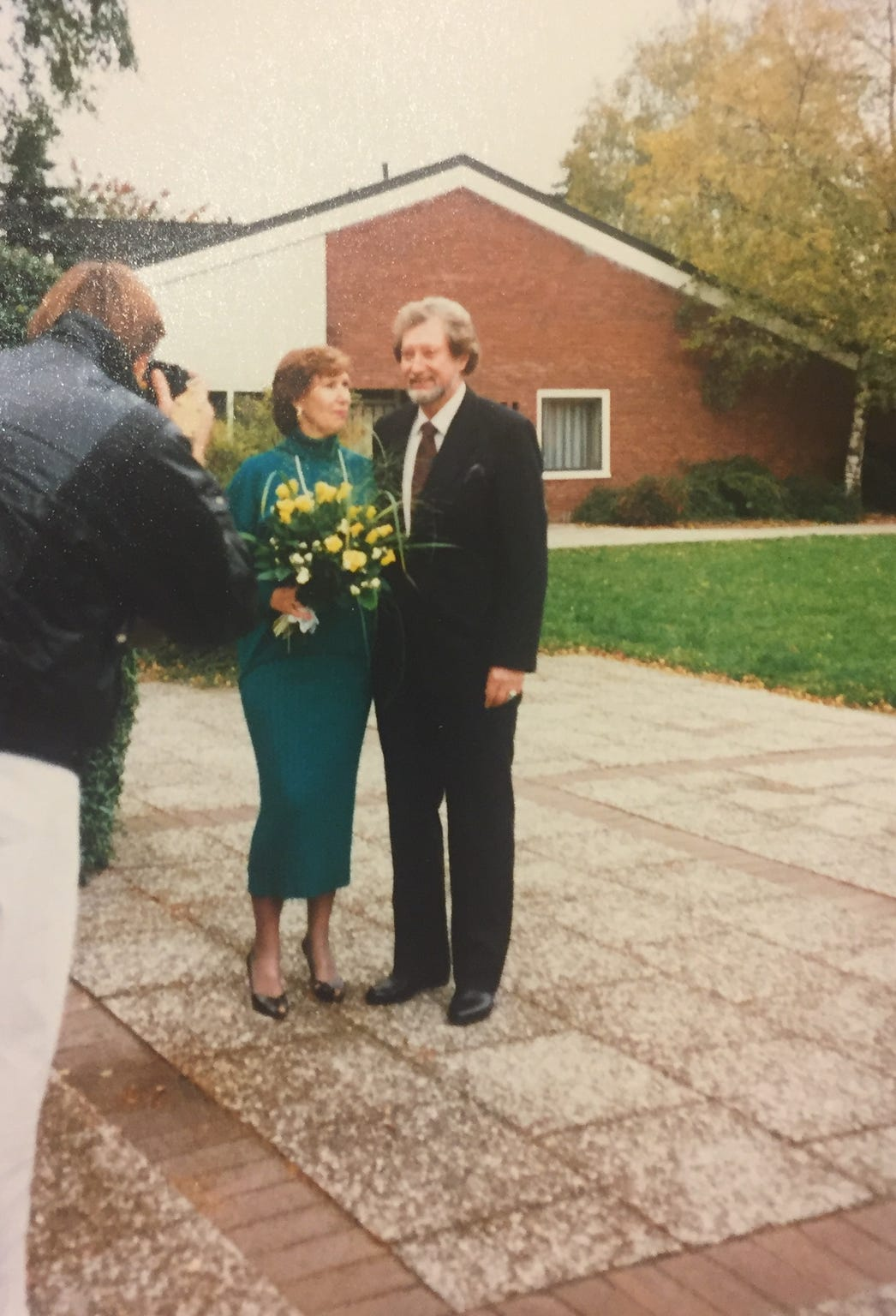 Jean Whiles and Georg Gaernter visiting Germany after his surrender in the mid-1980s.