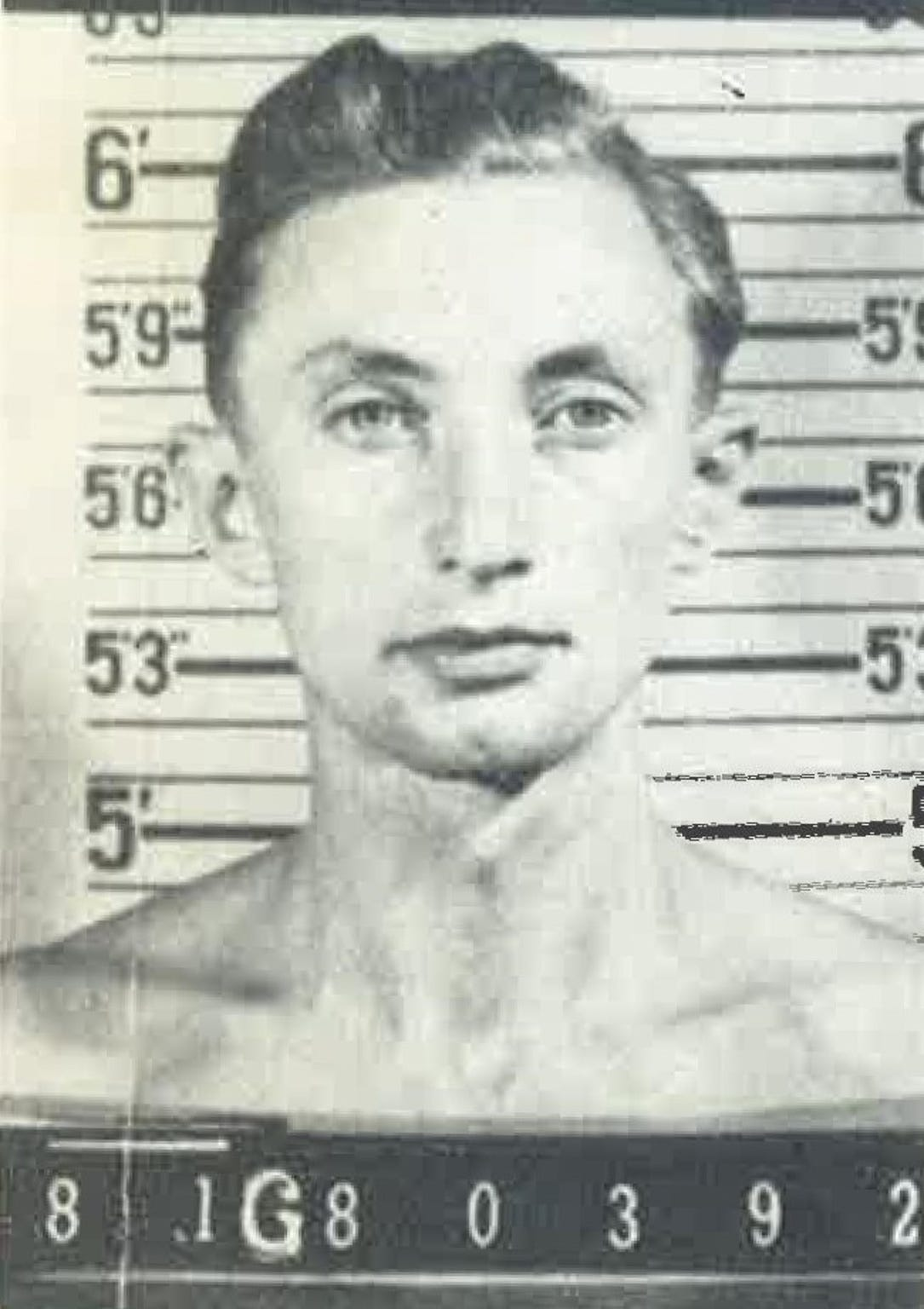 Georg Gartner as a prisoner of war in 1943. He would be sent to Deming, New Mexico, where he would escape and live as a fugitive from 1945 to 1985.