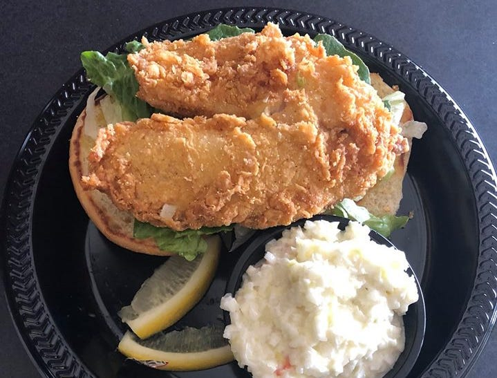 A crunchy fish sandwich from Longoria's Bistro. Longoria's offers a variety of Mexican and American dishes in San Carlos Park.