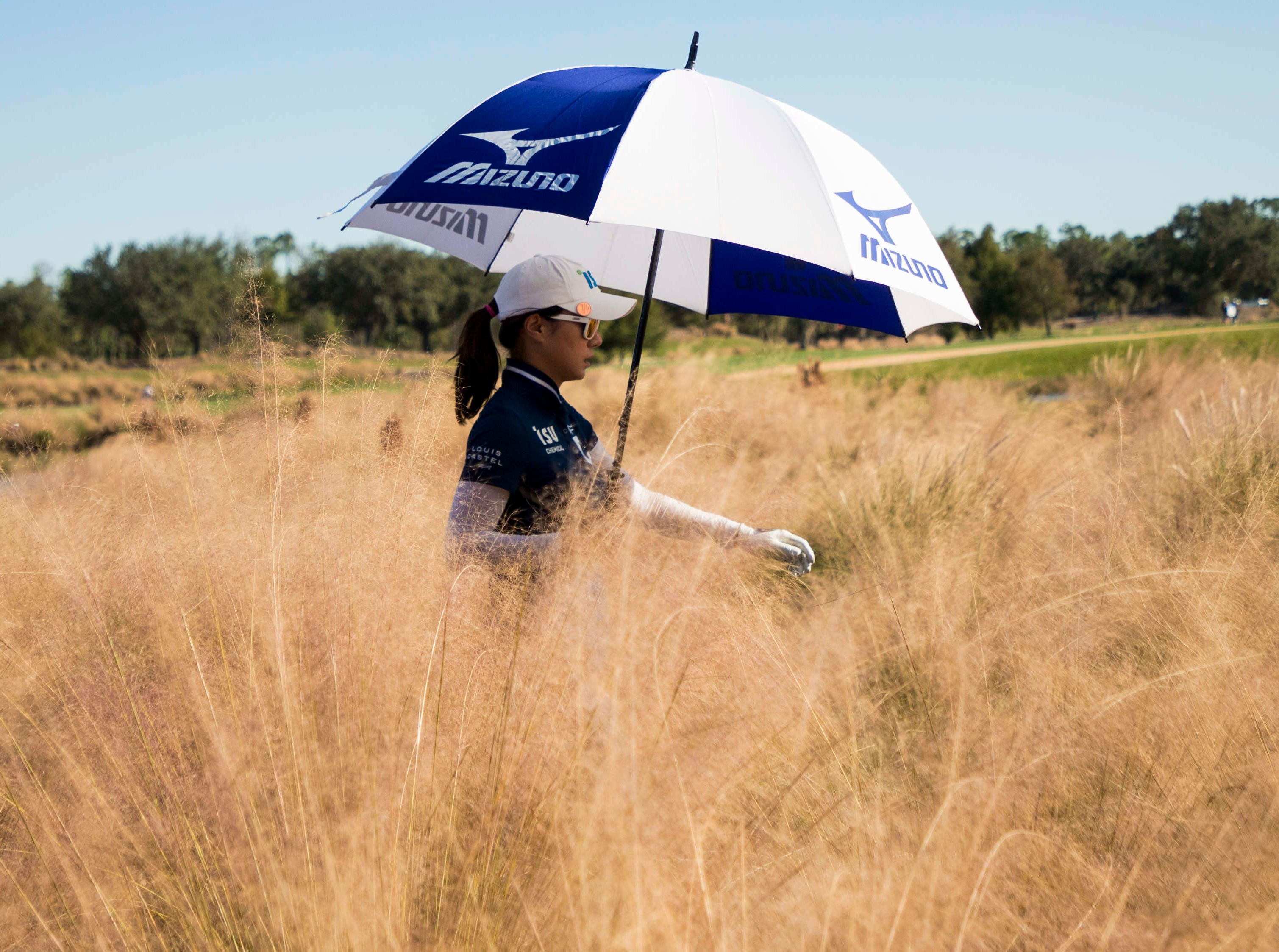 Hee Young Park makes her way down the 17th fairway after teeing off during the second round of the  CME Group Tour Championship on Friday 11/16/2018 at the Tiburon Golf Club at the Ritz Carlton Golf Resort in Naples, Fl on Friday.