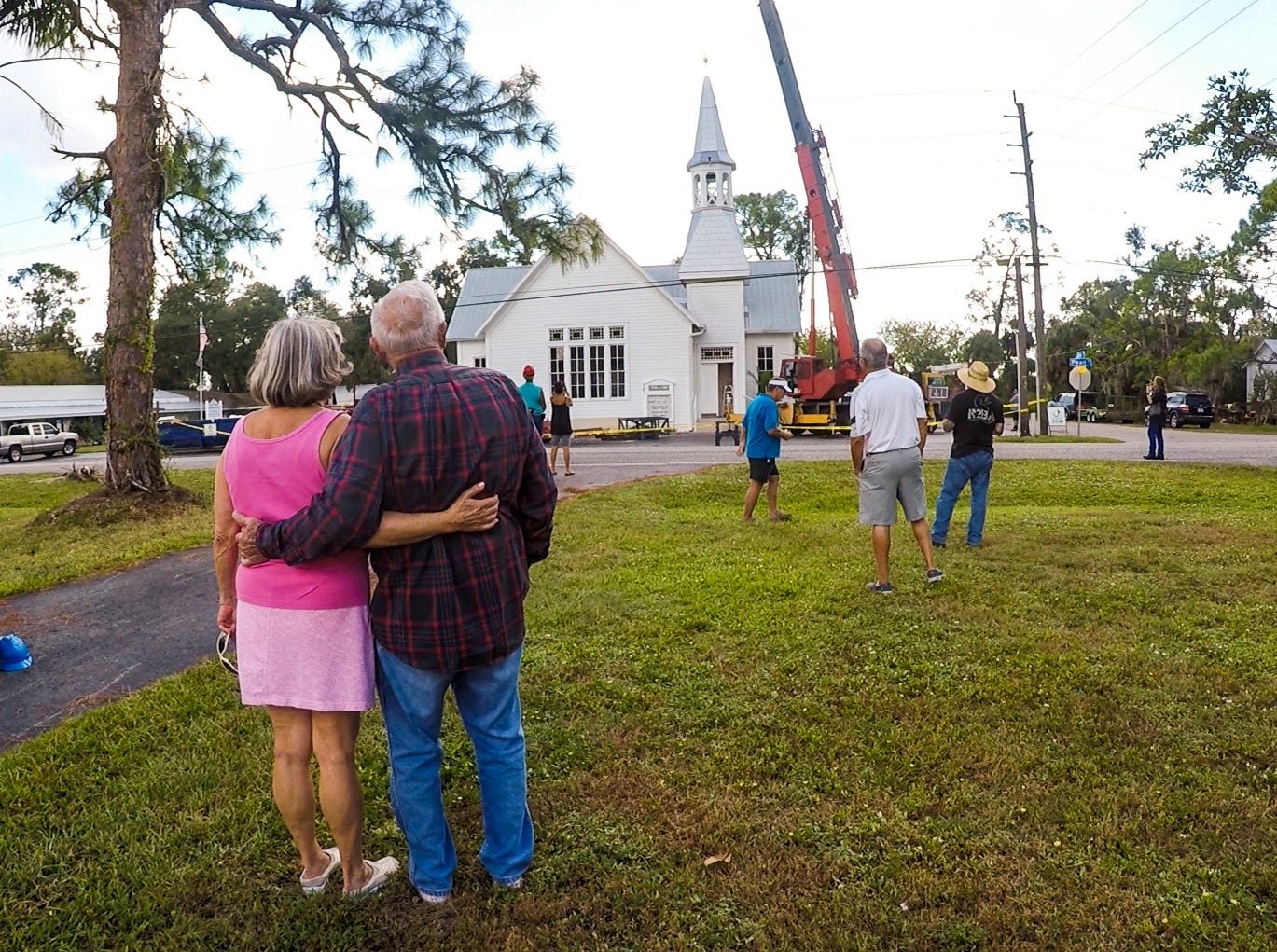 Alva Methodist church got a new steeple after Irma toppled its last one. They are thankful for all the donations that helped cover the cost of the deductible so they could replace it. This one has been built and installed with hurricane standards.