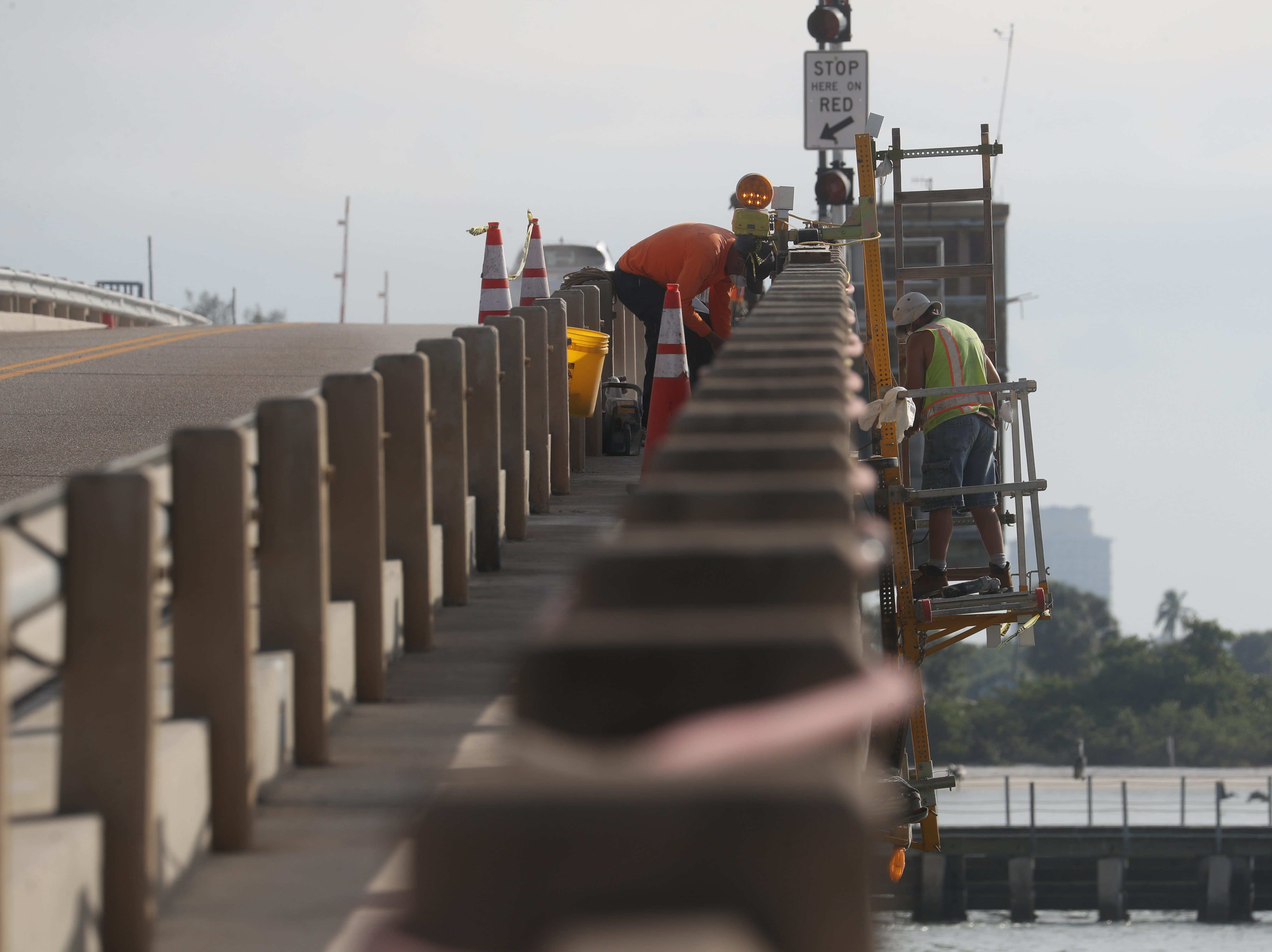 Images from the San Carlos Pass bridge on Tuesday 12/4/2018.  Lee County commissioners will hear a recommendation from county engineering and transportation departments Tuesday to replace the deteriorating bridge at Big Carlos Pass with a single-span structure towering  60 feet above the water.