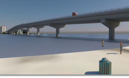 Single span bridge, rising 60 feet above Big Carlos Pass, is Lee County staff's preferred alternative for a new crossing