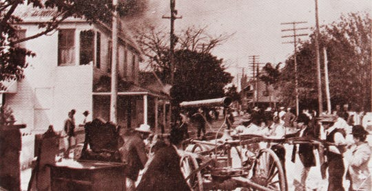 "A 1904 photo from ""Epic Fires of Fort Myers"""