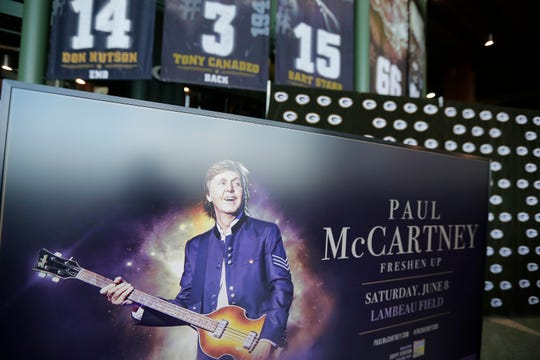 The Green Bay Packers announced Tuesday that Paul McCartney will perform  June 8, 2019, at Lambeau Field.
