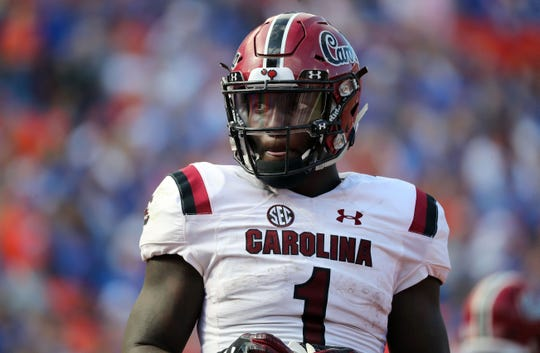 Former South Carolina receiver Deebo Samuel is catching the attention of NFL draft experts during Senior Bowl practice.