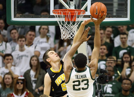 Ncaa Basketball Iowa At Michigan State