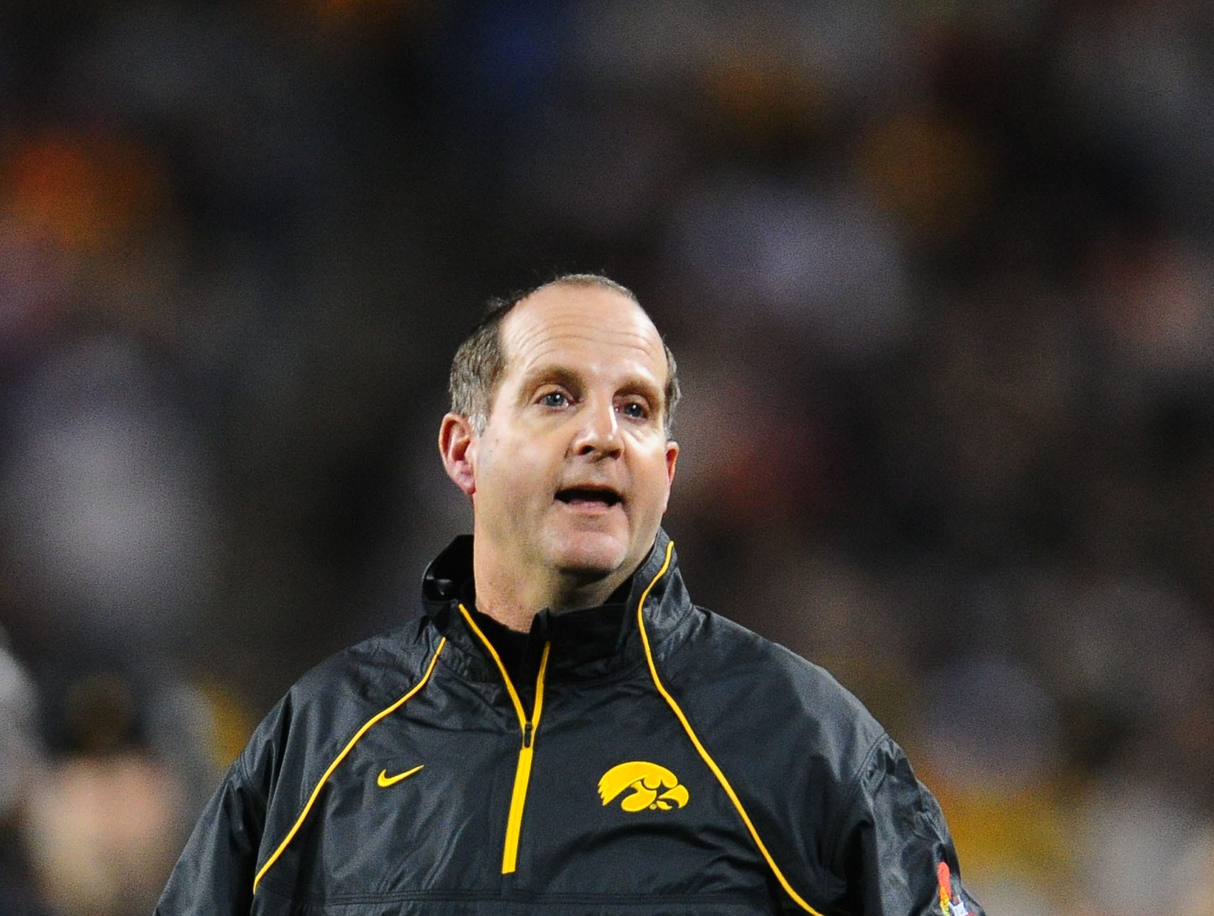Dec. 28, 2010; Tempe, AZ, USA; Iowa Hawkeyes defensive backs coach Phil Parker against the Missouri Tigers in the 2010 Insight Bowl at Sun Devil Stadium. Iowa defeated Missouri 27-24. Mandatory Credit: Mark J. Rebilas-USA TODAY Sports
