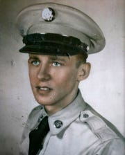 This is a young Curtis Willis when he was in the Army. Willis is a former boxer and double Purple Heart recipient from when he was a medic in the Korean War.