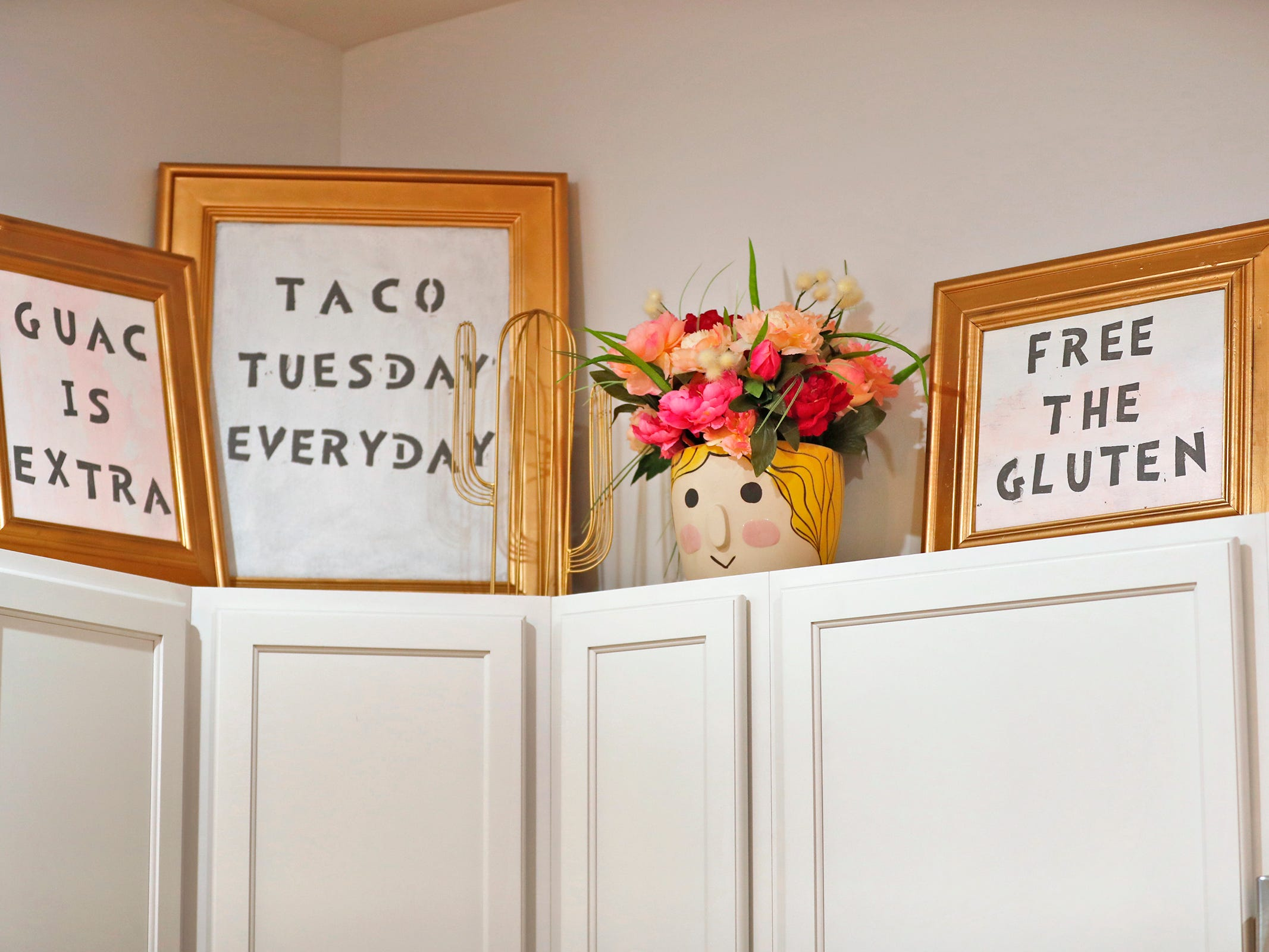 AirBnb owner Felicia Kiesel loves tacos, and her kitchen notes that taco Tuesday is everyday, as seen in the kitchen at 804 N. Keystone Ave., Monday, Dec. 3, 2018.